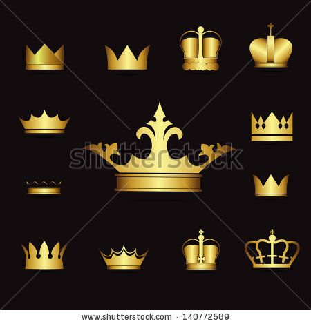 Gold crown background - photo#32