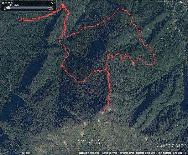 1050521由大坪登山口登苗栗縣南莊鄉加里山