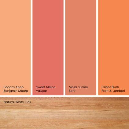 Warm Orange Paint Colors suggested orange paint picks if you like soft orange hues, here's