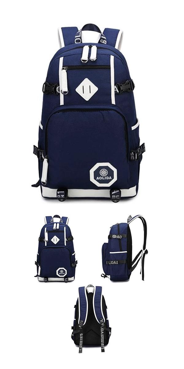 Retro Oxford Waterproof Large Capacity Belt College Bag
