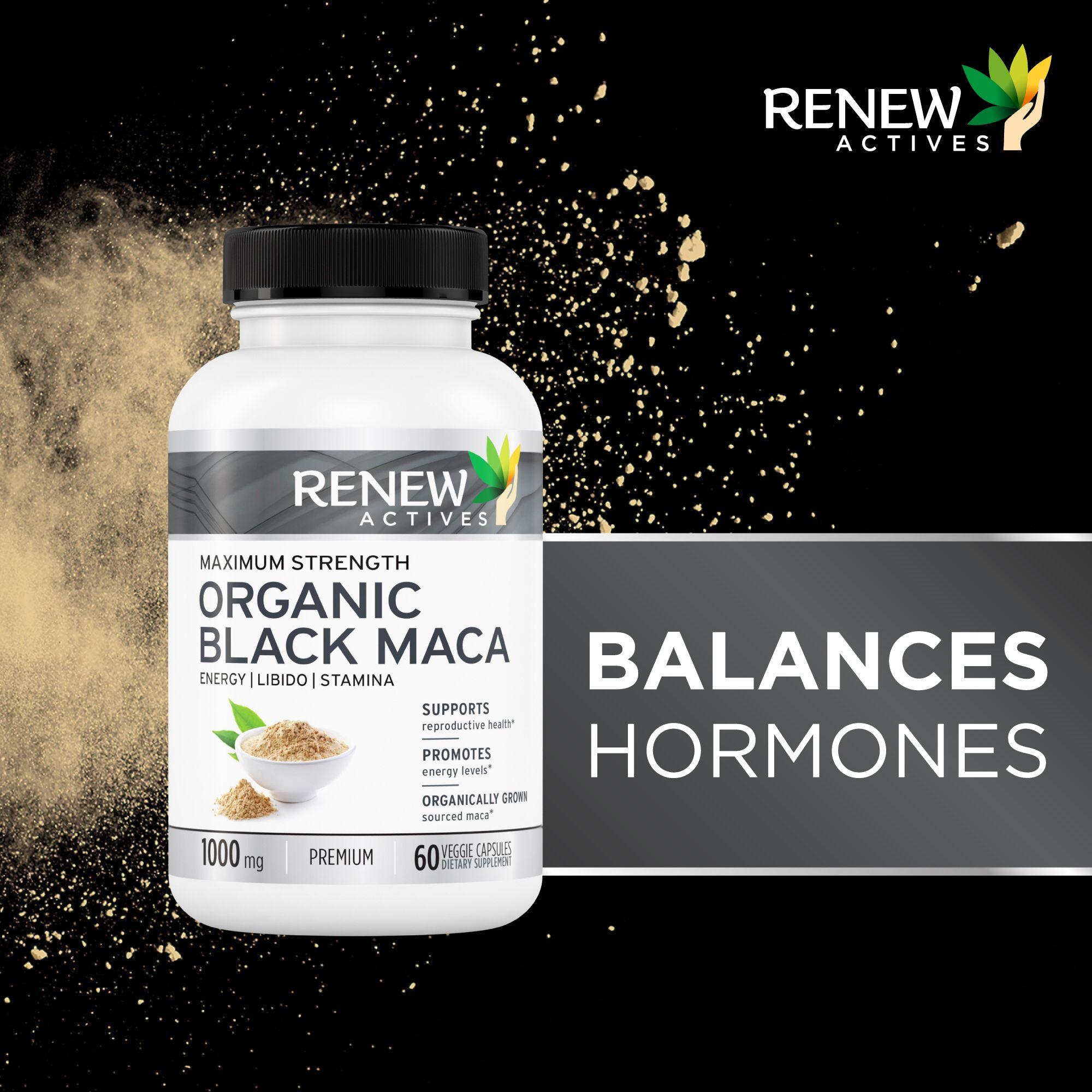 Black Maca is able to balance hormones in both men and women