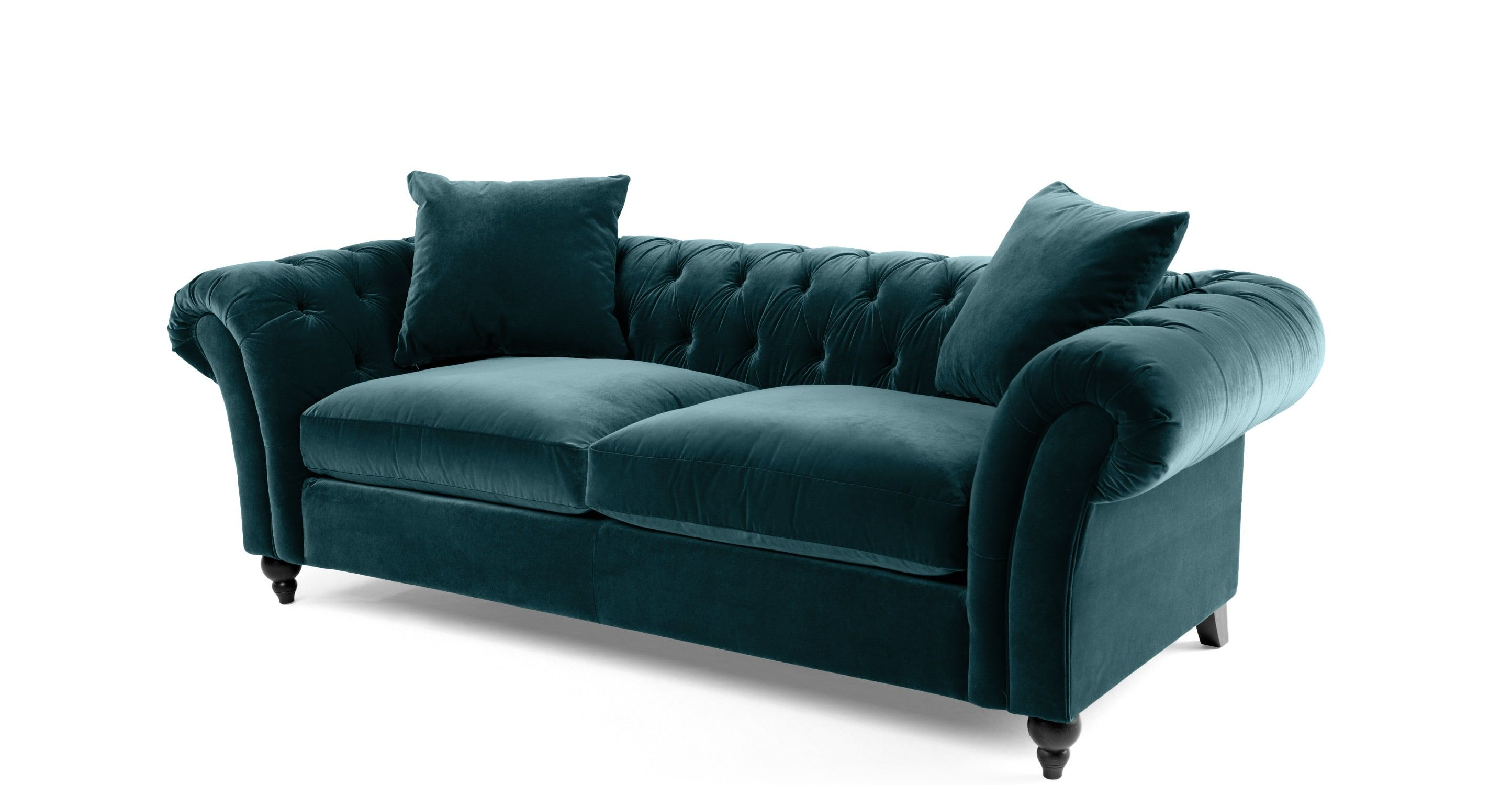 Chesterfield sofa samt  set Chesterfield black (real leather) by massivum | Sofas, Sessel ...