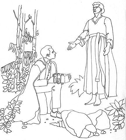 Joseph Smith Receives The Gold Plates Cutout Figures