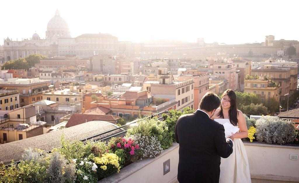 Les Etoile Roof Terrace Rome Elopement Couple Session Fine