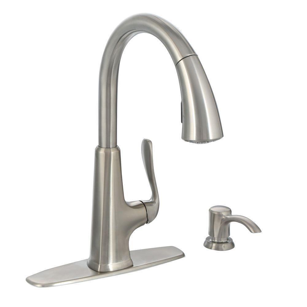 Pfister F 529 7pds Pasadena Pull Down Kitchen Faucet W Soap Dispenser Kitchen Faucet Faucet Repair Faucet Handles