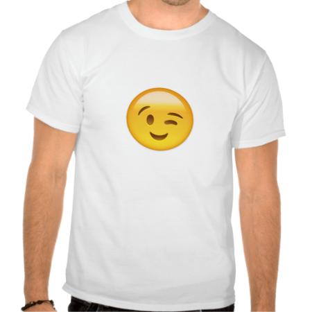 Winking Face Emoij T Shirt Zazzle Com Angry Face Emoji Hand Emoji Emoji Tees