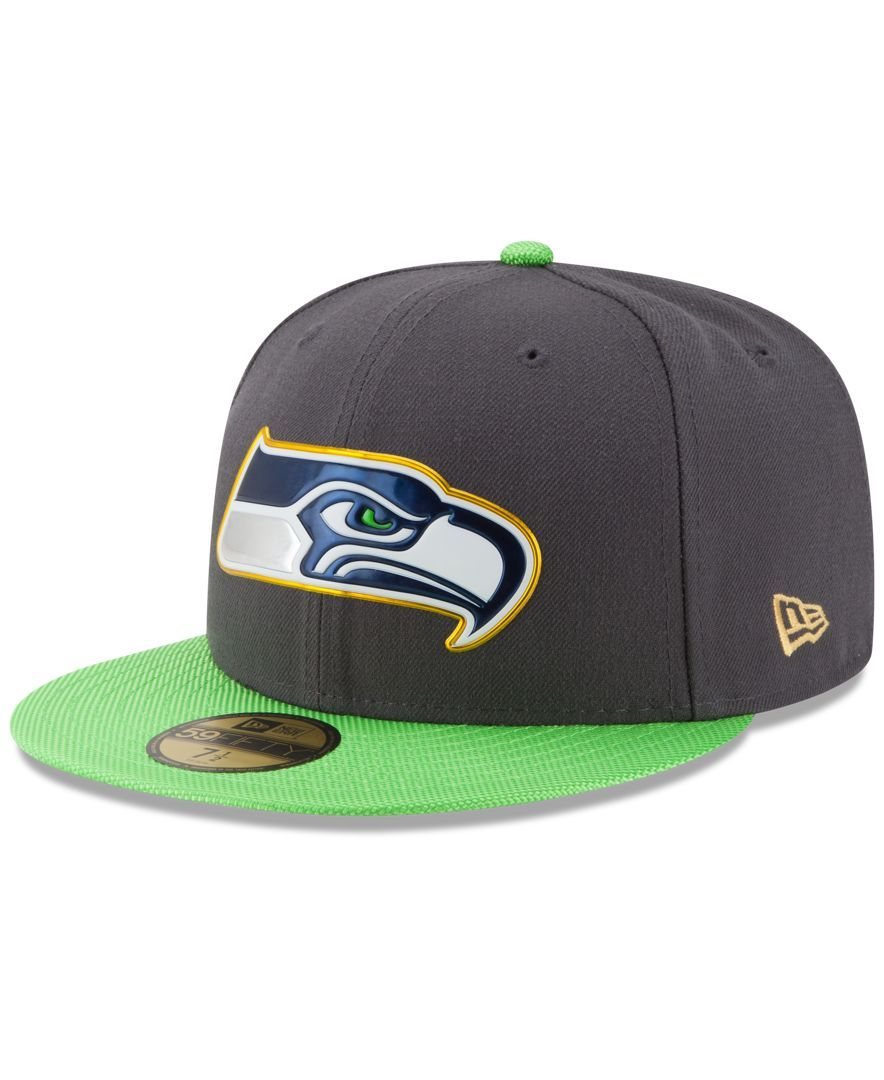 d2c3fba52 New Era Seattle Seahawks Gold Collection On-Field 59FIFTY Cap