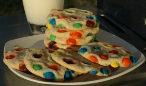 Butter Cookies with  M & M's
