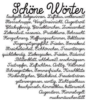 Schöne Wörter   schöne deutsche Worte   Wohklingende Wörter   waseigenes.com