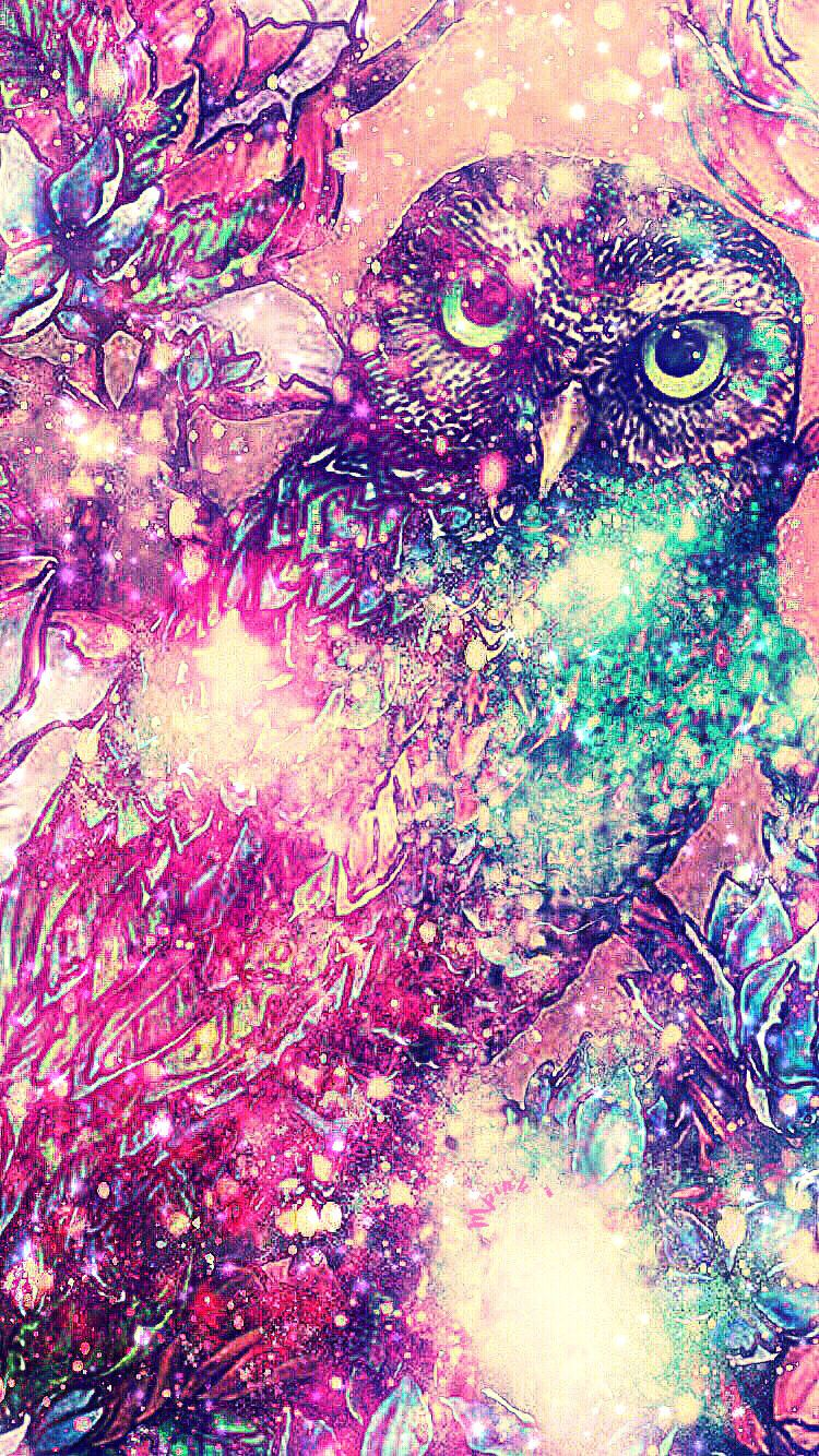 Night Owl Galaxy Wallpaper/Lockscreen Girly, Cute