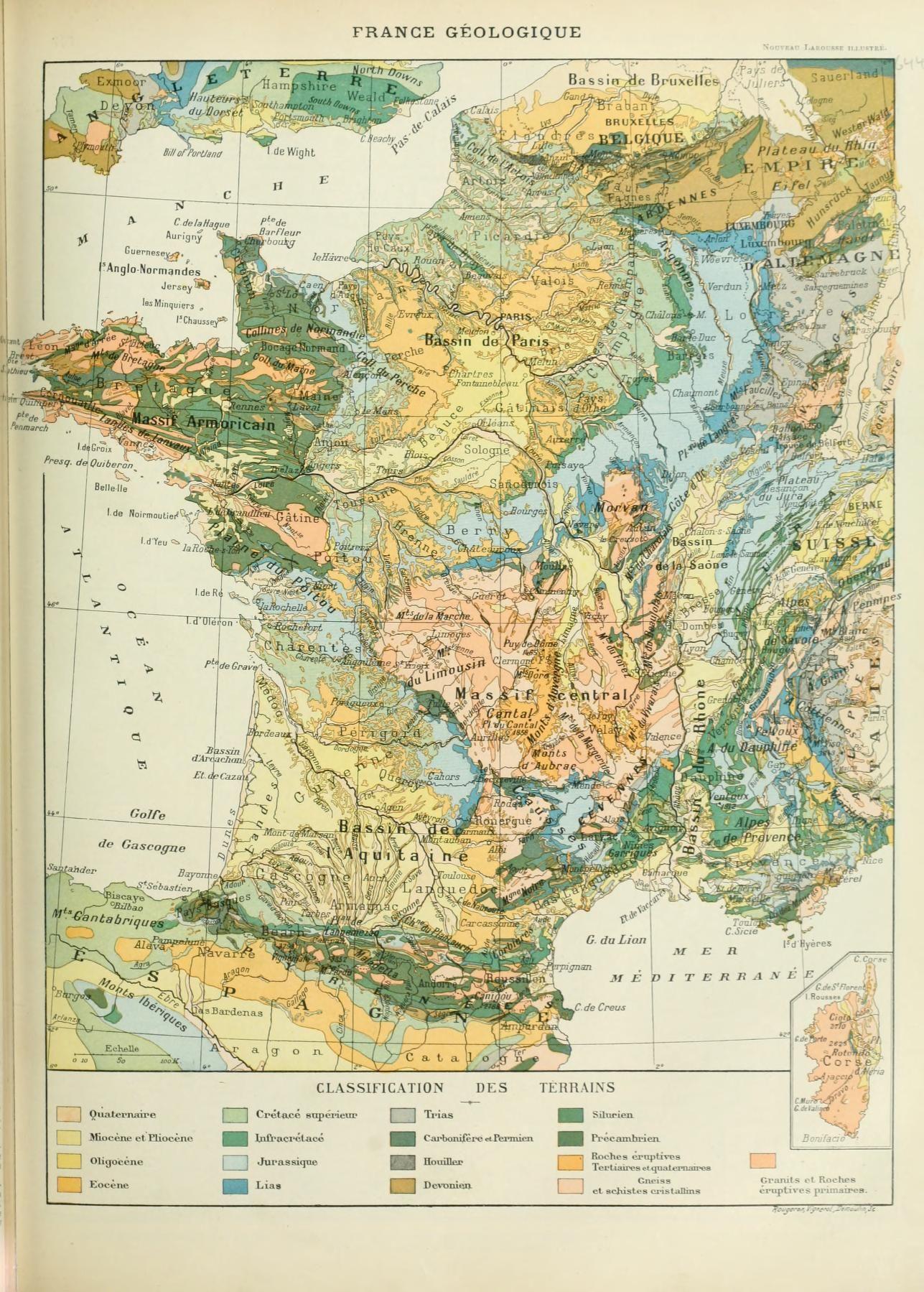 Nouveau Larousse illustré France Géologique Sciences