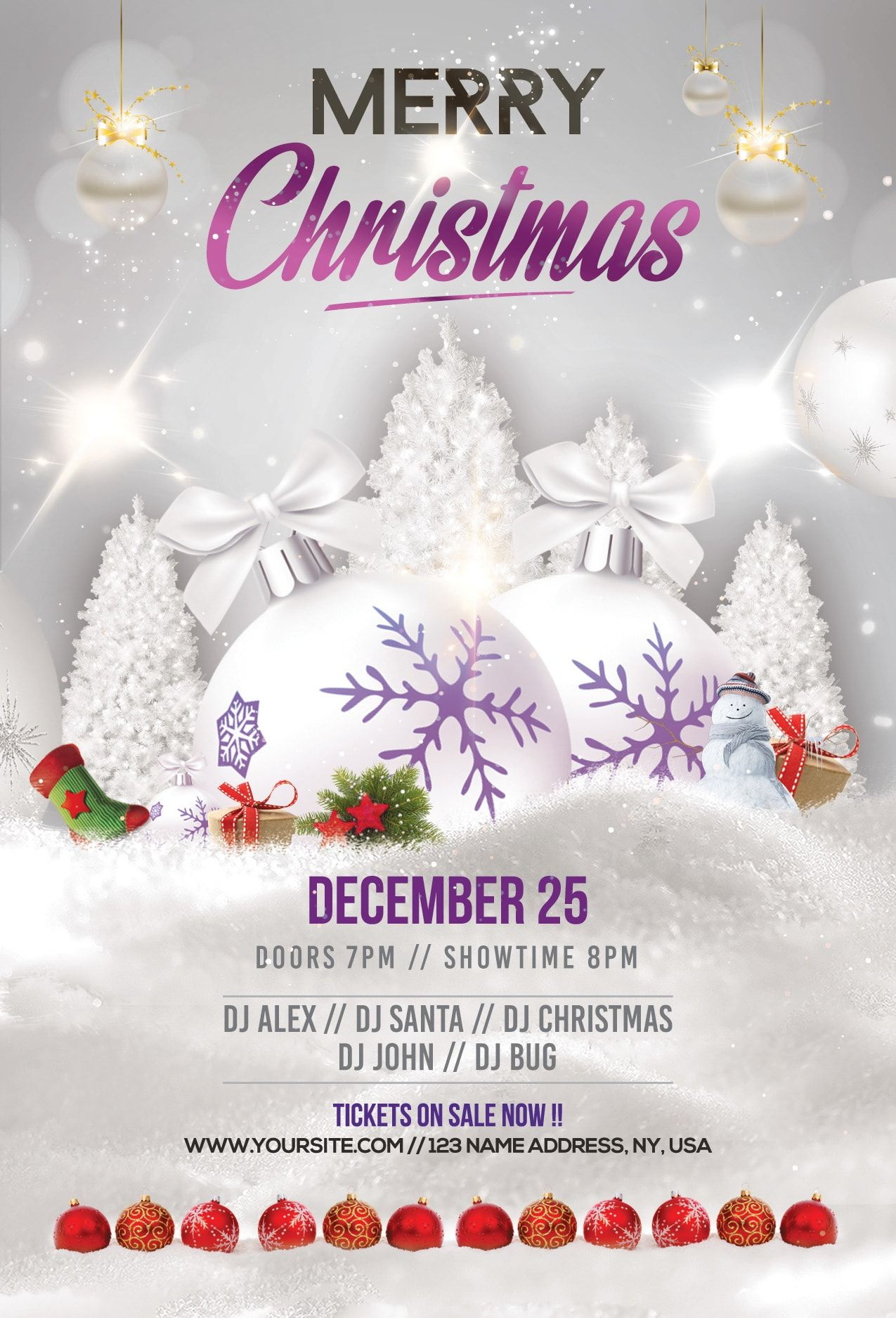 Merry Christmas Holiday Free Psd Flyer Template Stockpsd In Christmas Brochure Templa Free Christmas Flyer Templates Holiday Flyer Template Christmas Flyer
