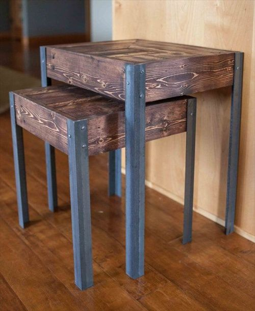 beautiful pallet nesting table projects | pallet furniture designs