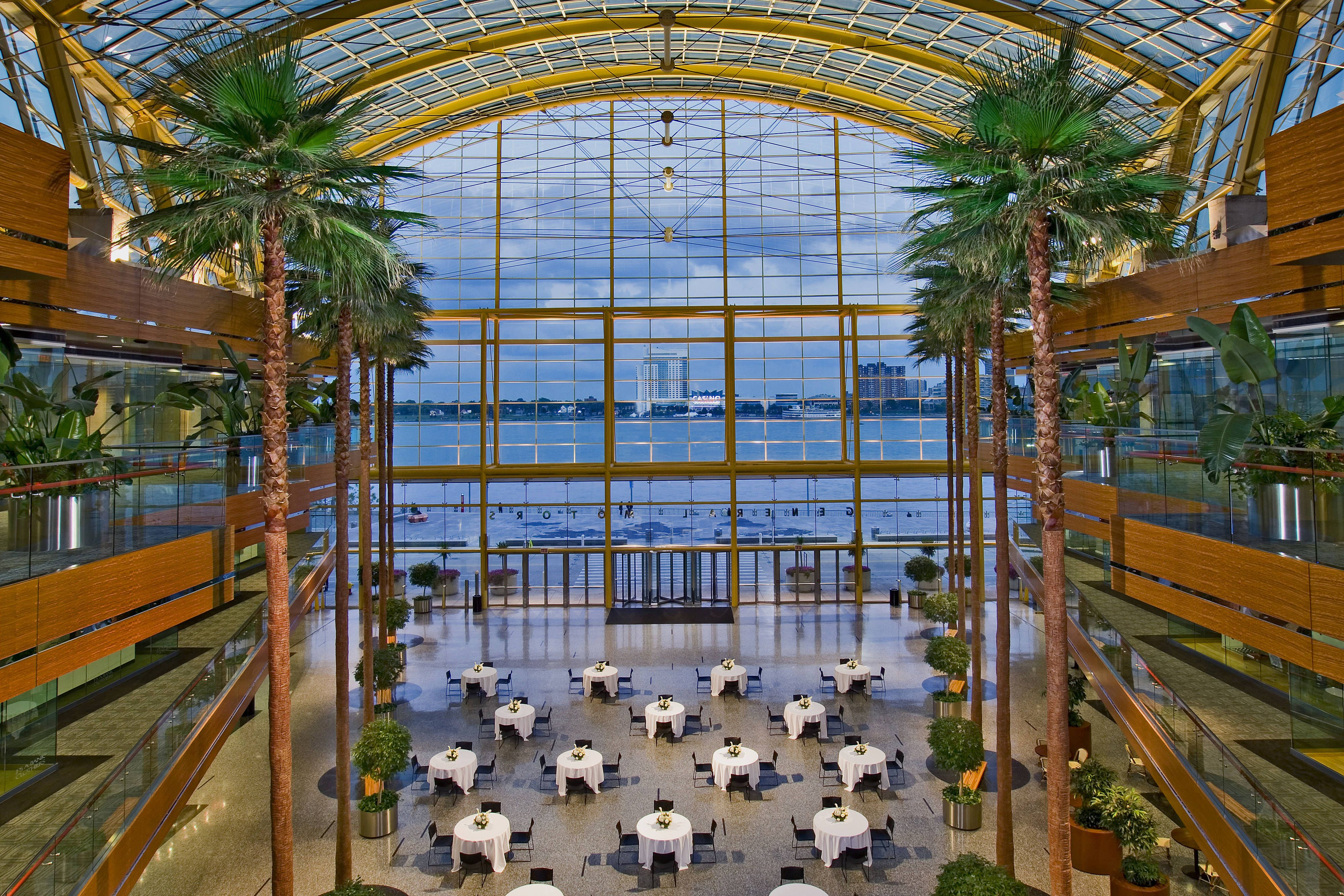Detroit Marriott At The Renaissance Center Wintergarden Memorable Relax Beautiful Renaissance Center