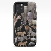 Photo of African Animals_Black background iPhone Case by dohshin African Animals_B …