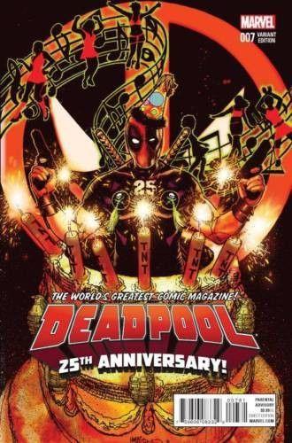 Deadpool #7 Harris 25th Anniversary Variant Marvel Comics (2016)