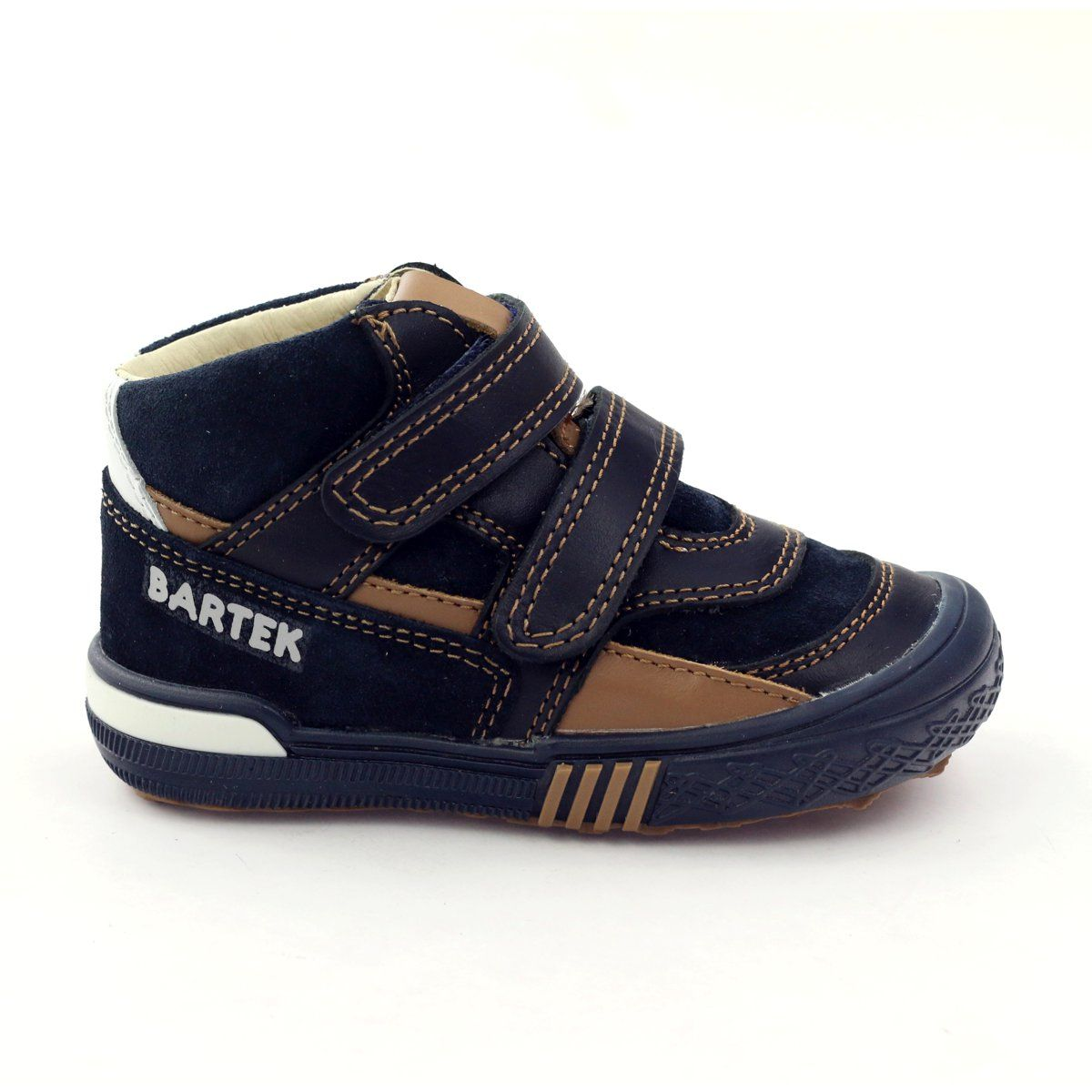 Preventive Shoes Bartek 91756 New Navy Brown White Childrens Boots Kid Shoes Childrens Shoes