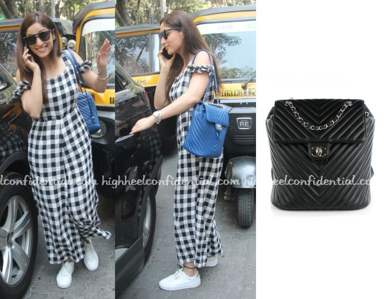 Yami In Asos Jumpsuit Chanel Backpack Celebrity Fashion Indian Style Celebrity Style Fashion Indian Celebrity Fashion Celebrity Style Bollywood Fashion