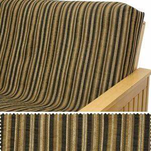 Coco Mocha Stripe Custom Pillow Cover