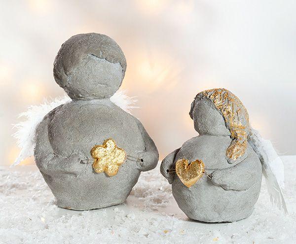 Weihnachtsengel aus knetbeton beton pinterest diy crafts und dios - Knetbeton anleitung ...