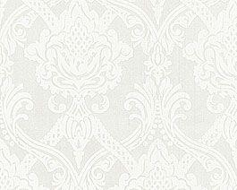 vliestapete mit barock muster weiss gnstig im tapetenshop online kaufen ez teilweise halbhoch oder 1 - Vliestapete Muster