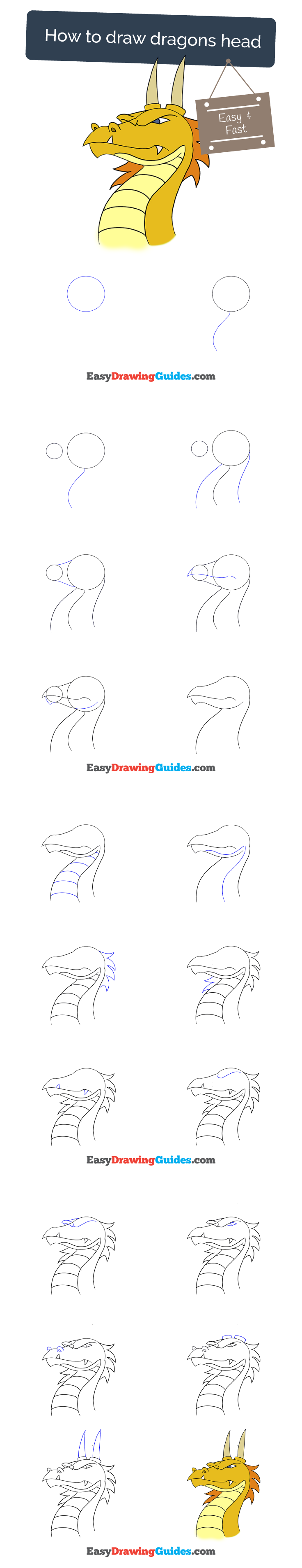 Learn How To Draw With Easy Step By Step Guides Dragon Draw
