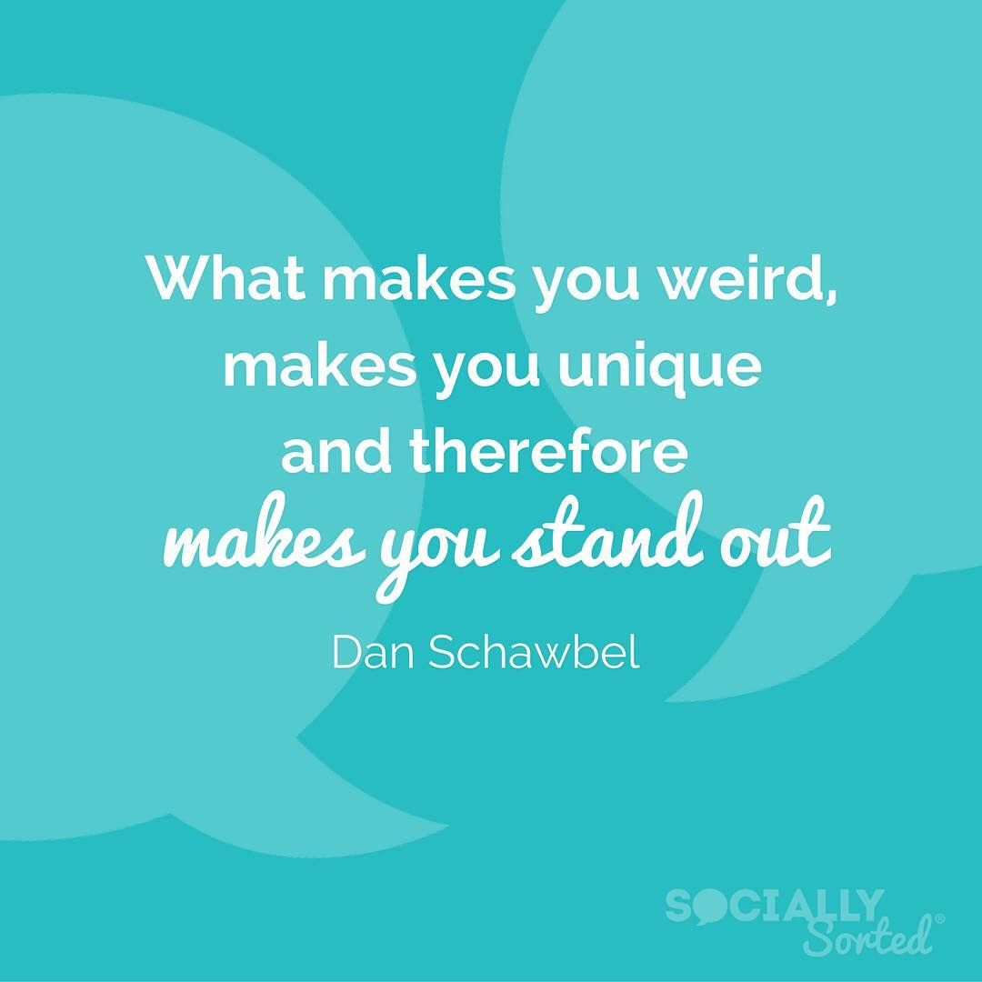 """What's your """"thing"""" that helps you stand out? What is it that only you do?  Dan Schawbel was right: """"What makes you weird makes you unique and therefore makes you stand out"""". Want more great social media advice?  Grab your ticket to the Social Media Success Summit in October.  LINK IN BIO or go to http://ift.tt/2bWSAvQ.  It's the world's largest online social media conference I'll be speaking too and I'd love to have you join us (even in your PJs - no travel required). #branding101…"""