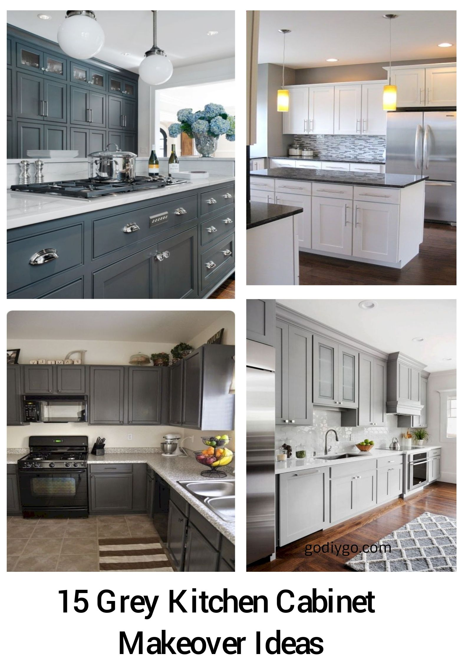 15 Grey Kitchen Cabinet Makeover Ideas | For the Home | Grey ...