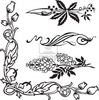 Jugendstil ornament ecken und teiler jugendstil outline for Ornamente jugendstil