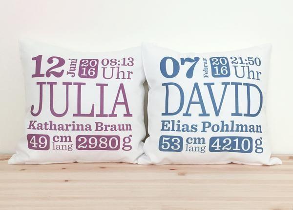 personalisiertes babykissen mit namen geschenkideen zur geburt pinterest baby baby. Black Bedroom Furniture Sets. Home Design Ideas