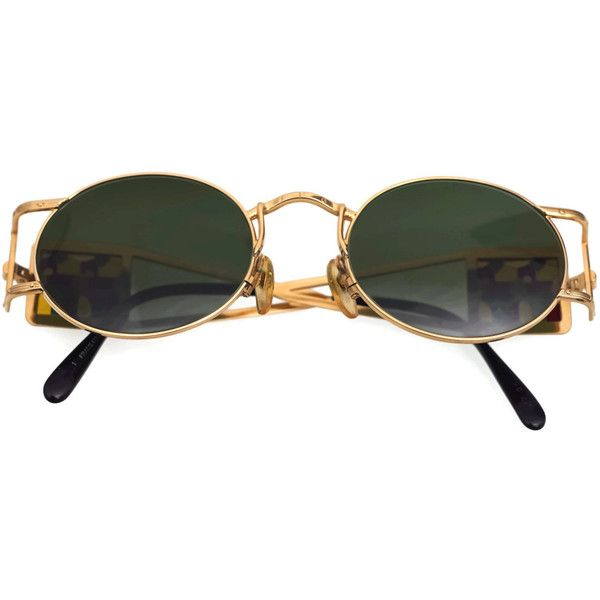 e705fb52d128b Vintage JEAN PAUL GAULTIER Bust Stained Glass Sunglasses ( 650) ❤ liked on  Polyvore featuring