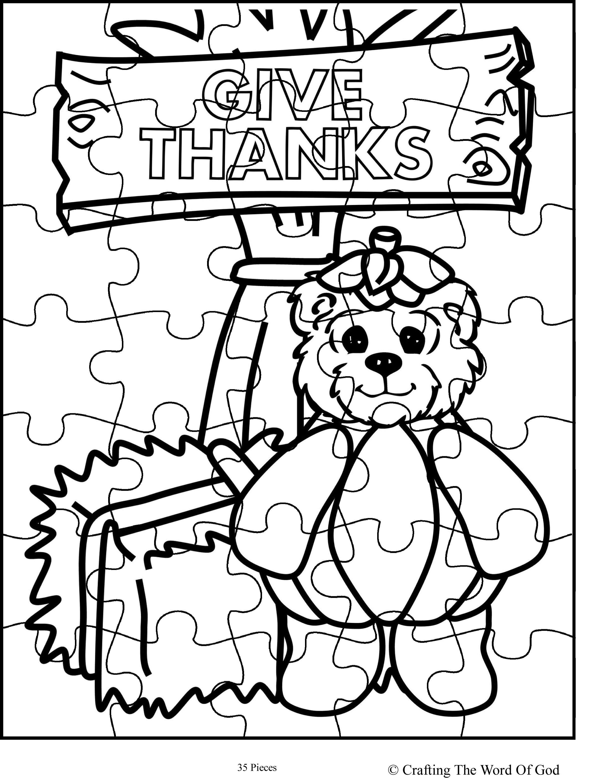 Thanksgiving Puzzle 9 Activity Sheet