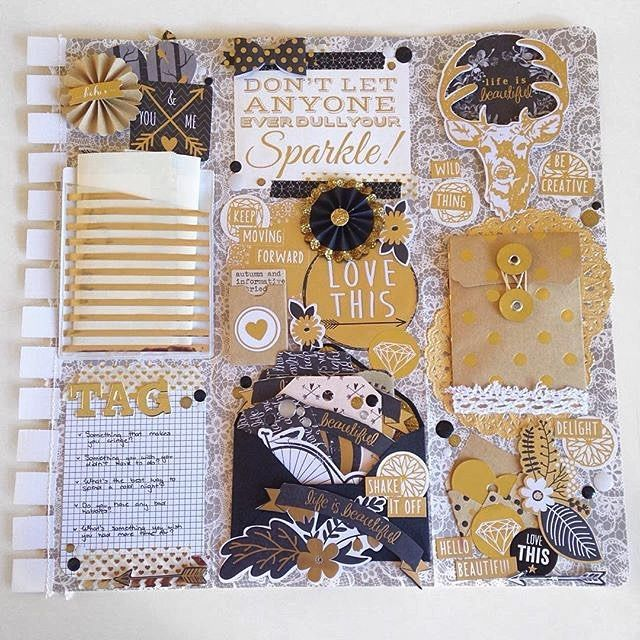 @kittyk8 has been busy with our range of craft supplies - love her creativeness! #scrapbooking #savvyshopper