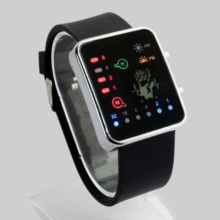 Hot LED electronic watch binary watch pokemon GO watch