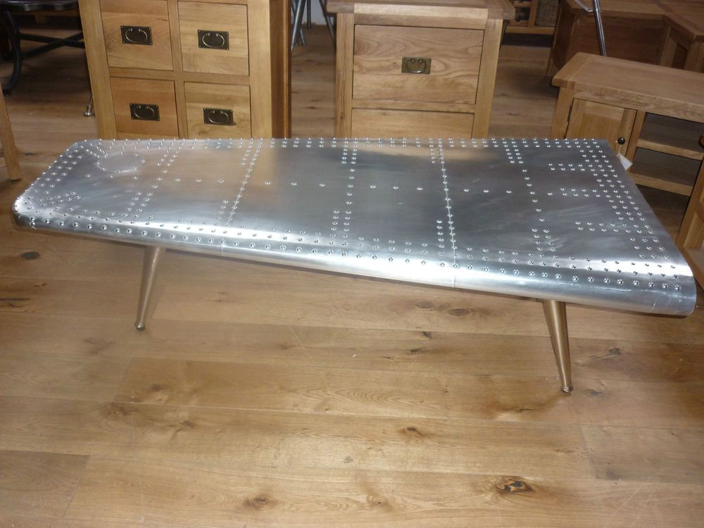 deluxe furniture, aviator aluminium wing style coffee tables