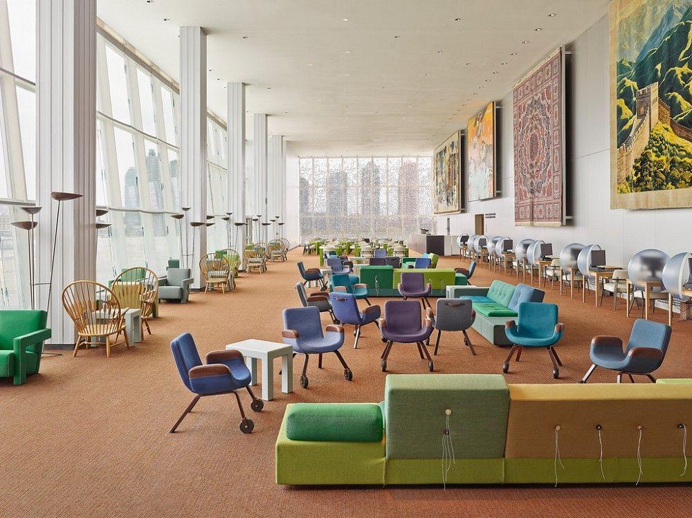 Delegate's Lounge, UN headoffice, New York