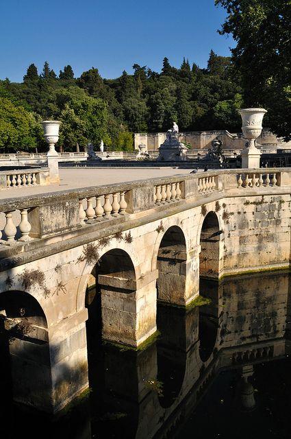 Jardin de la Fontaine, Nîmes, Provence, France. Built by Louis XV.