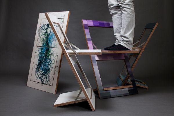 Klappstuhl design  Fläpps Klappstuhl Motiv I I Design Seating I Anastasia Euchermann ...