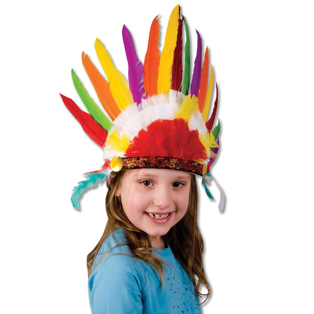 child 39 s feather indian headdress thanksgiving child