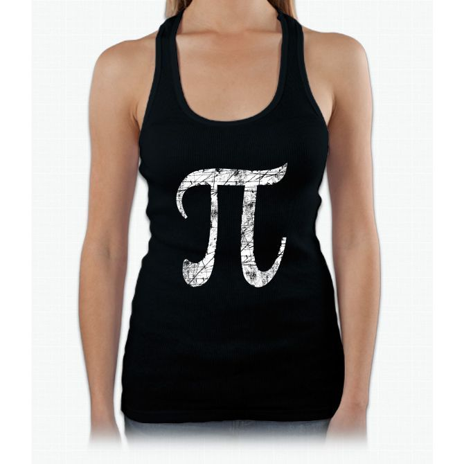Pi Greek Letter Symbol Grunge Style Womens Tank Top Products