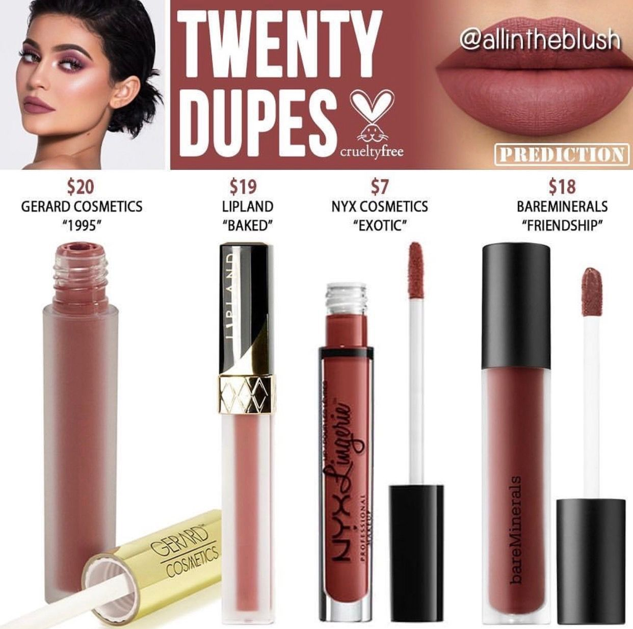 Kylie Cosmetics limited edition birthday collection Twenty lip kit ...