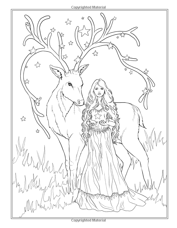 Festive Magic - Fantasy Christmas Coloring Book (Fantasy Coloring by ...