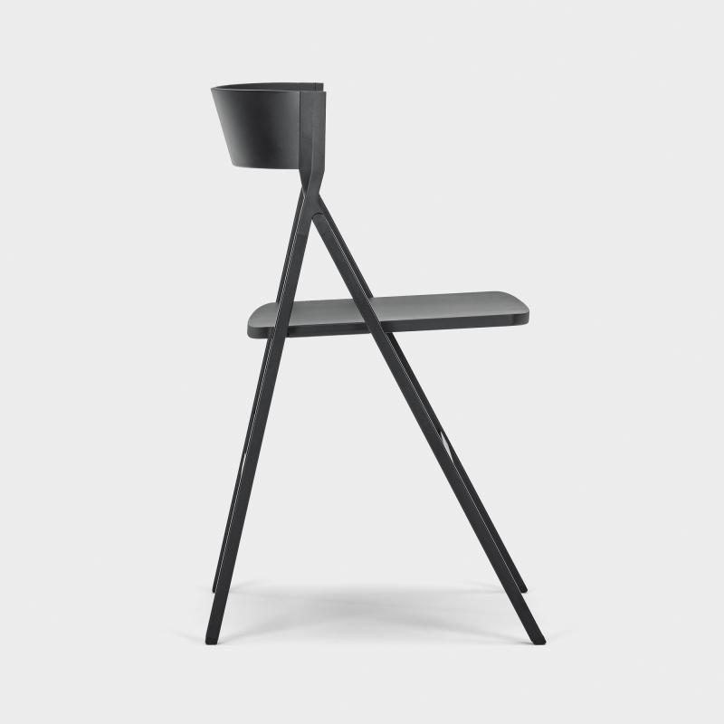 Klappstuhl design  Design-Klappstuhl, schwarz | Klappstuhl, Schwarzer und Designs