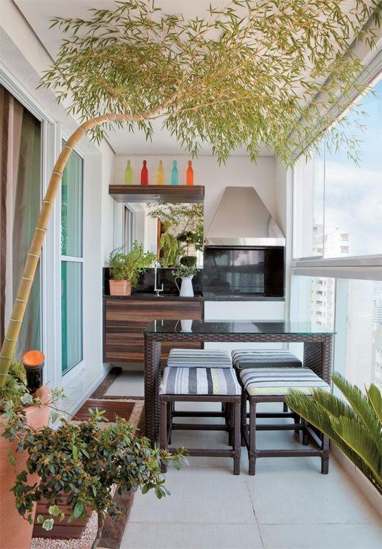 Balkon mit küche- unser kleines Wohnzimmer im Sommer INTERIOR DECO