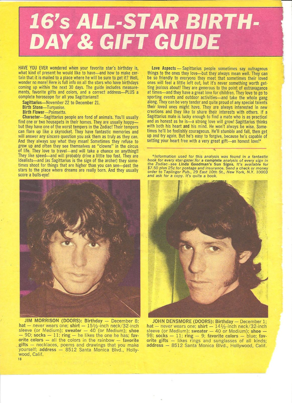 Jim Morrison The Doors Full Page Vintage Clipping   eBay