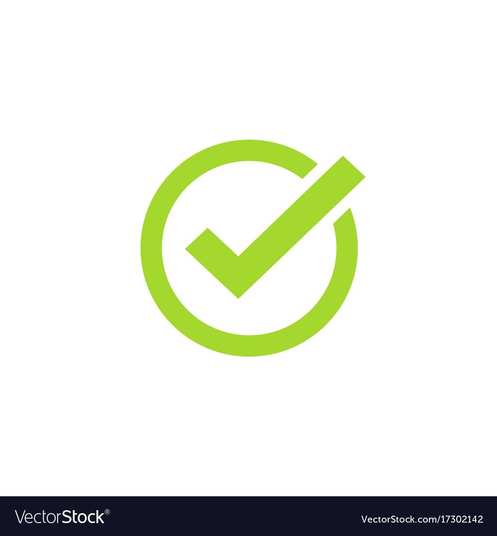 Tick Icon Symbol Green Checkmark Isolated Vector Image Icon Resume Icons Image