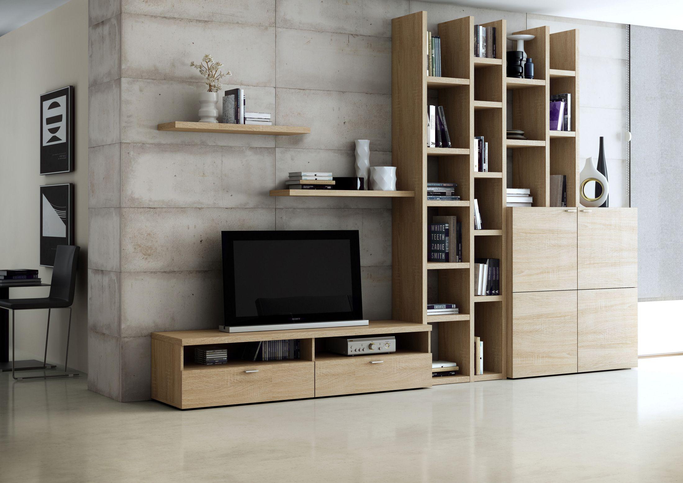 Toro Wohnzimmer Regal Wohnwand Bücherregal eiche natur sägerau maßgenau mgl eBay Shelf storage Pinterest