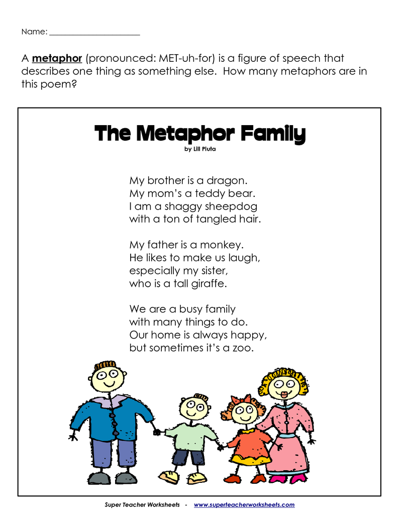 Workbooks poems worksheets : Metaphor Assessment | BetterLesson | Classroom | Pinterest | Poem ...
