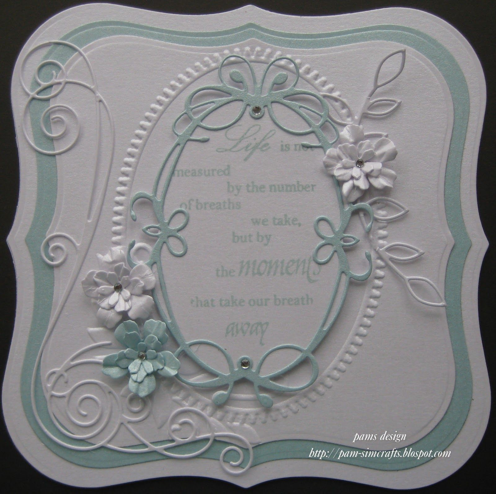 memory box die card ideas pamscrafts new memory box tiffany frame