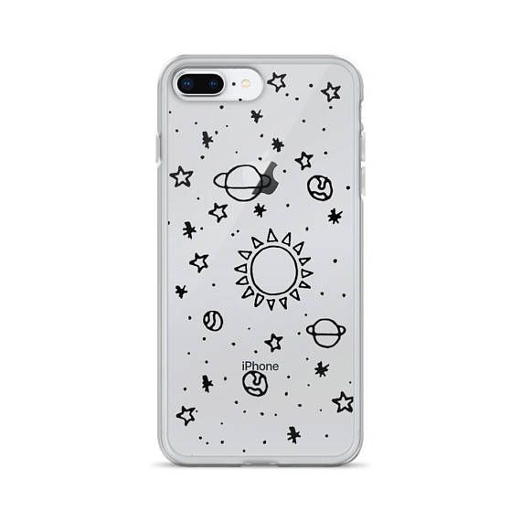 Case Funda iPhone 6 7 8 Plus X Xs Max Xr Bonitas Ovni Flores en